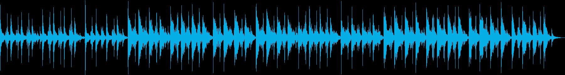 ピアノの優しい音色のリラクゼーション音楽の再生済みの波形