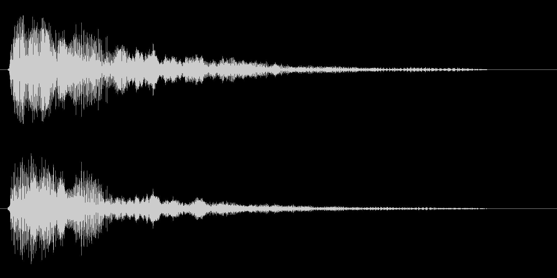 バチュゥン(短い発射音)の未再生の波形