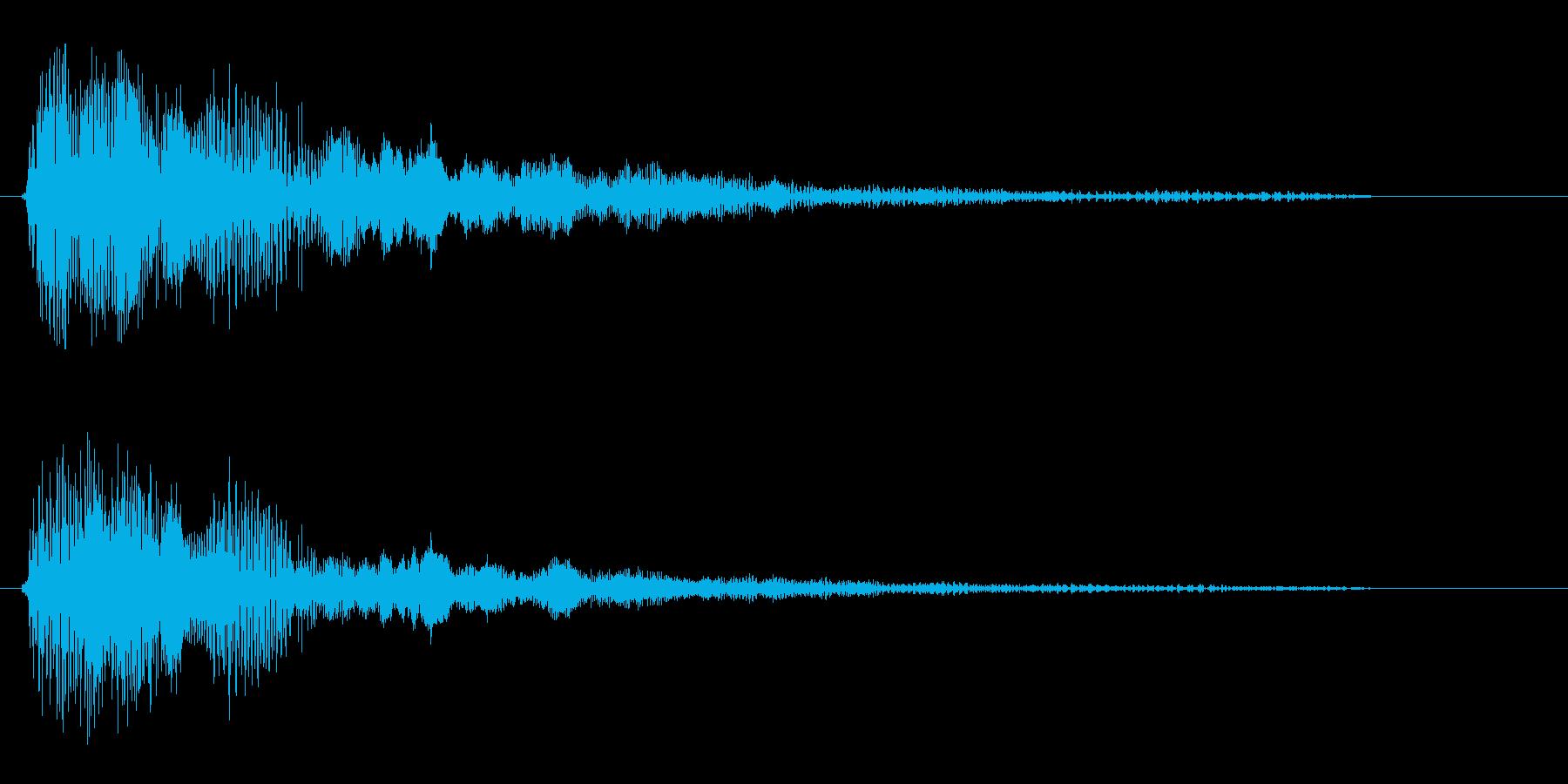 バチュゥン(短い発射音)の再生済みの波形