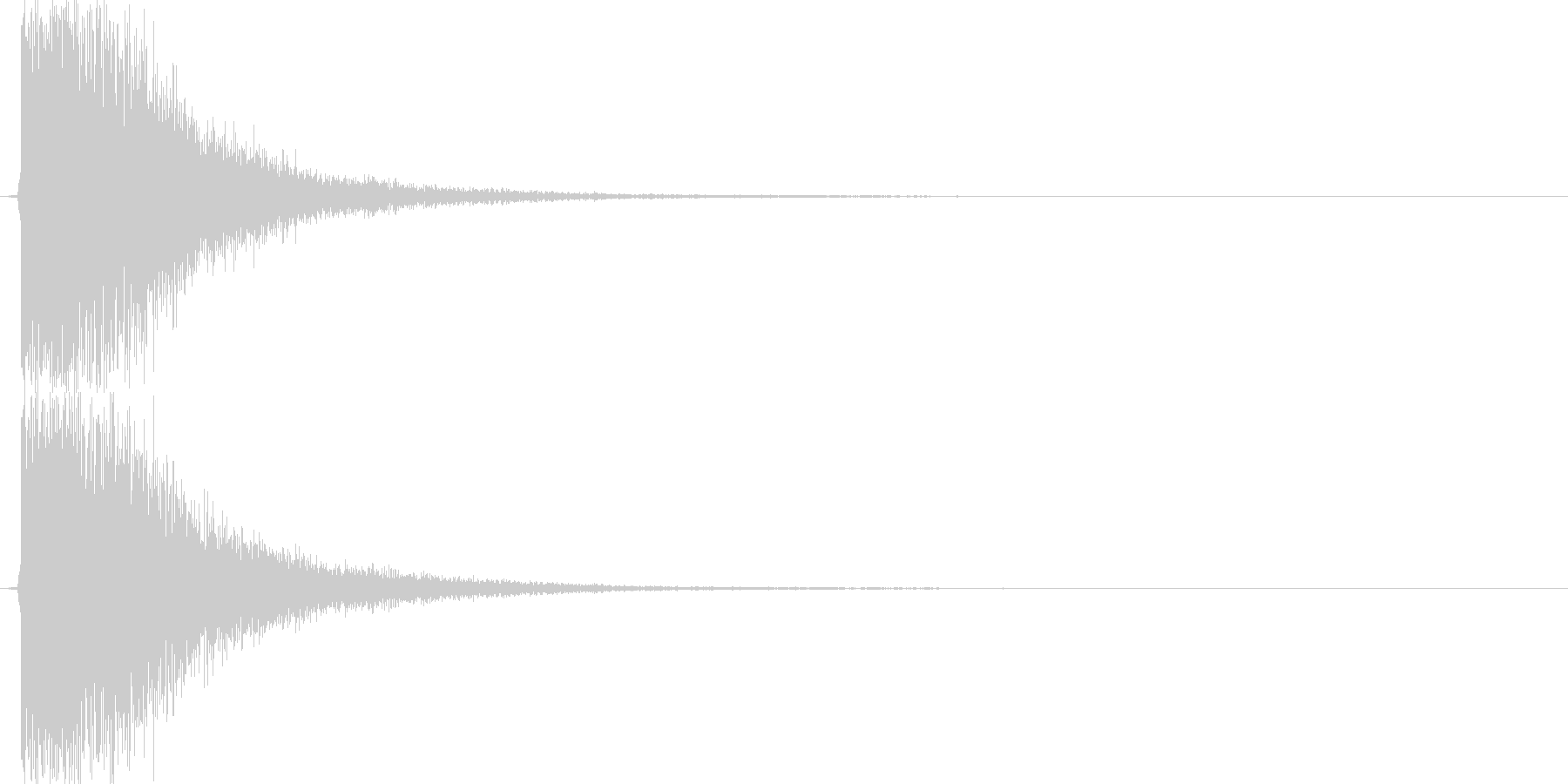 カキーン(剣VS剣、金属、大剣)の未再生の波形