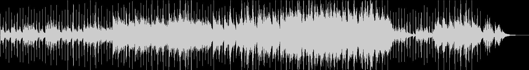 冬・星・雪 ヒーリング系ピアノのBGMの未再生の波形