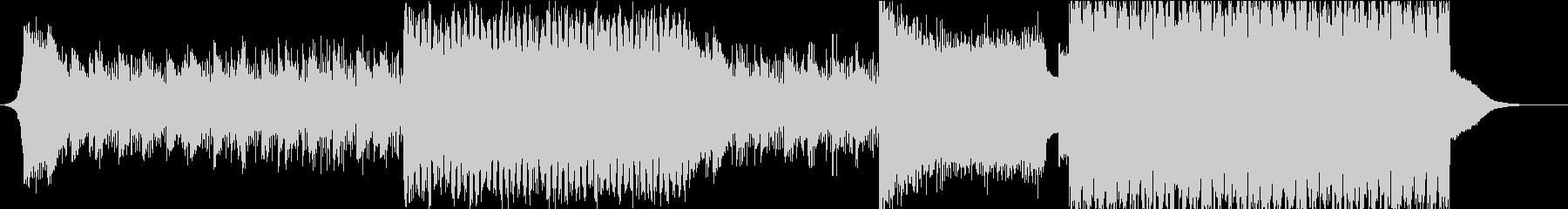壮大なピアノサウンドの熱狂EDMの未再生の波形