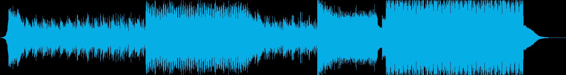壮大なピアノサウンドの熱狂EDMの再生済みの波形