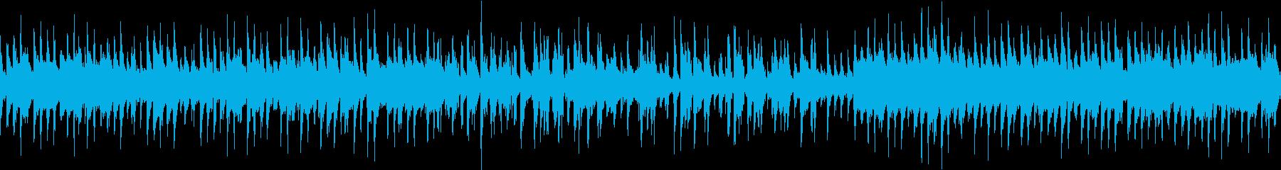 ワクワクドキドキするジャズ風BGMの再生済みの波形
