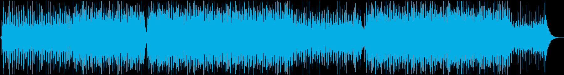 爽やかで優しい音色のトロピカルBGMの再生済みの波形