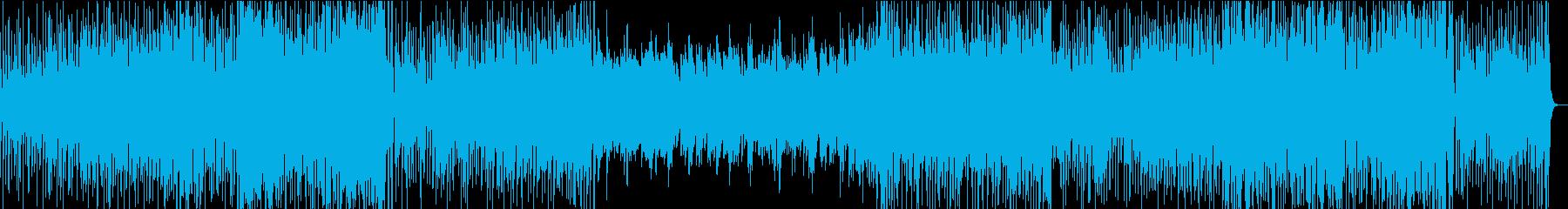 テクニカル、パーカッシブなアコギ曲の再生済みの波形