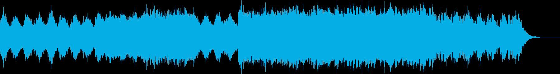 幻想的なバイオリンとピアノの再生済みの波形