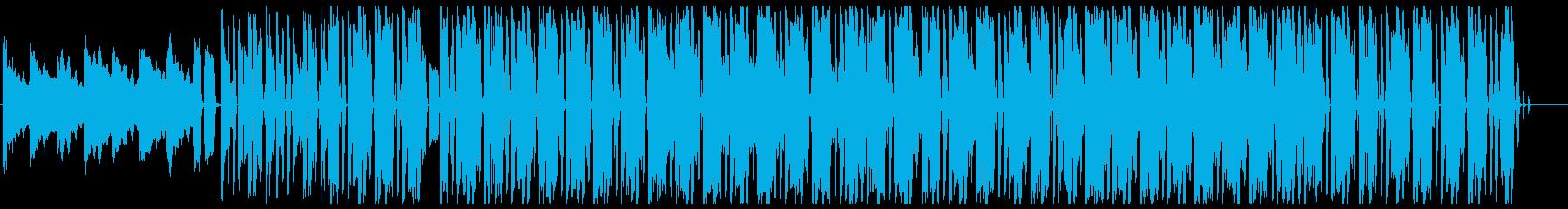 パワフルで勢いあるメロディーの再生済みの波形