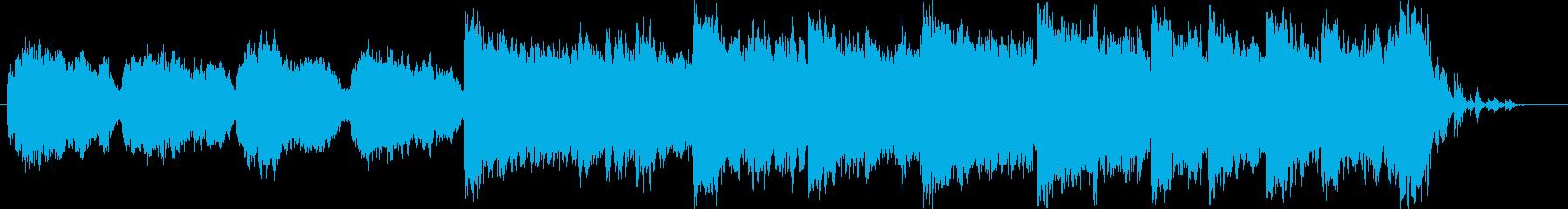 クリスマスをイメージしたBGM01の再生済みの波形