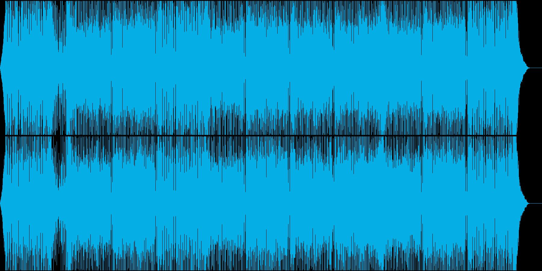 三味線が熱い!重厚和風ハードロック声無しの再生済みの波形
