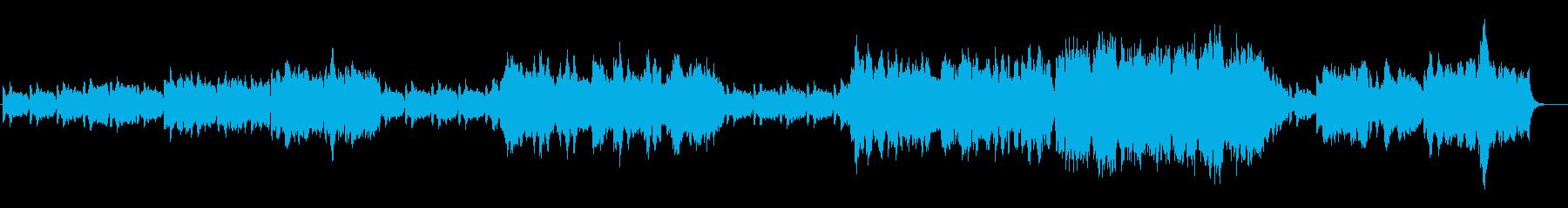 爽やかで前向きなオーケストラ、シンセの再生済みの波形