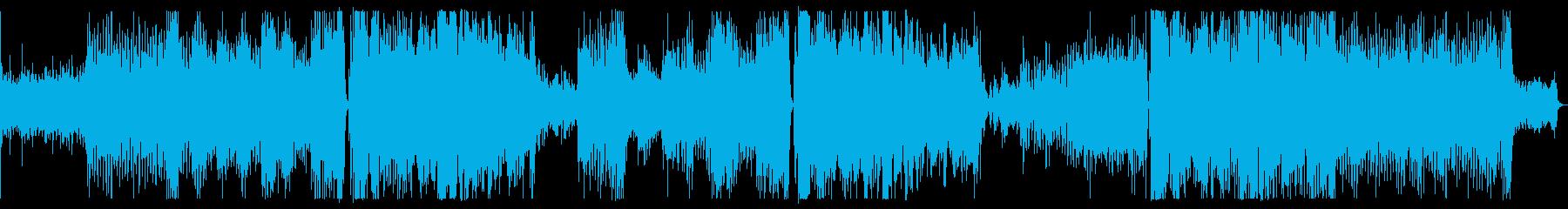 ラテン系の4つ打ち曲です。の再生済みの波形