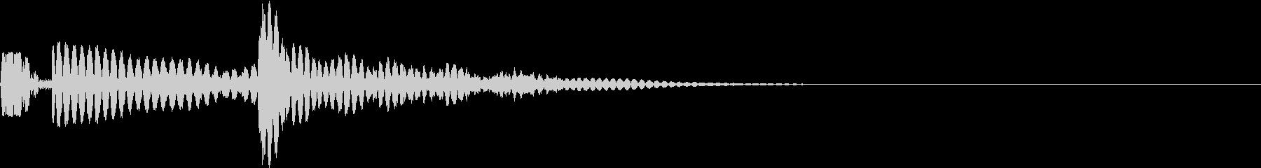 ボボチャ(アクセント・カーソル・決定)の未再生の波形