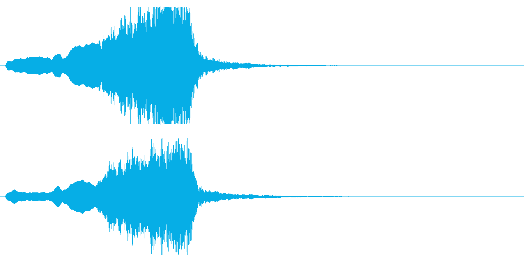 音楽、ベインステム、フレンチホルン...の再生済みの波形