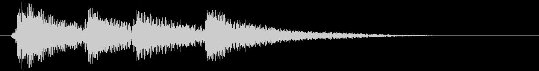 エレピのクールなジングルの未再生の波形