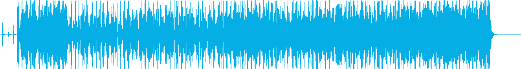 ファンキーでチャラい、リゾートビーチ曲の再生済みの波形