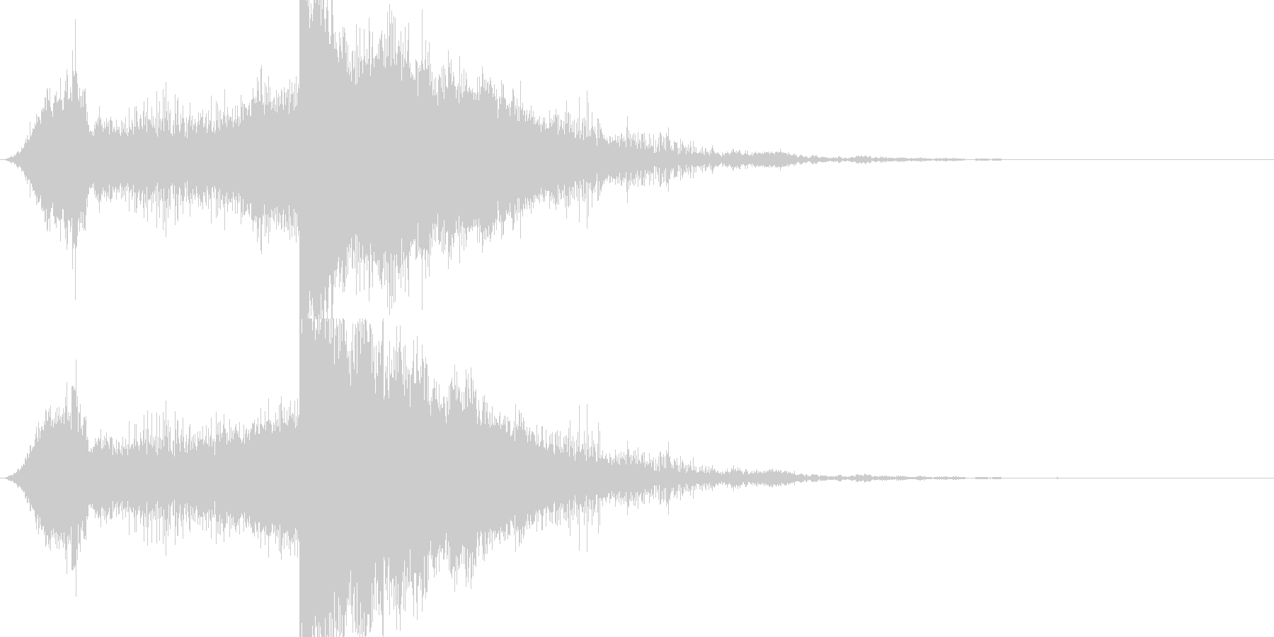 RPG系魔法イメージ音03 電気の未再生の波形