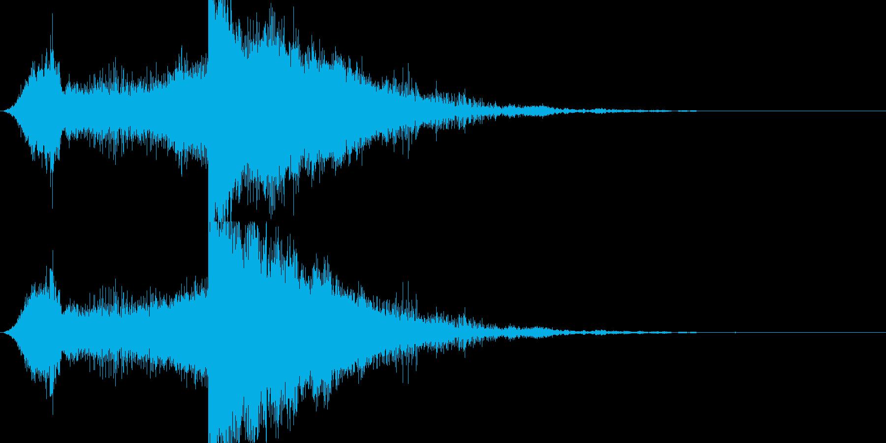 RPG系魔法イメージ音03 電気の再生済みの波形