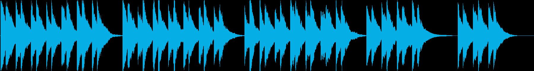 時報・チャイム風の名曲のメロディ・5の再生済みの波形