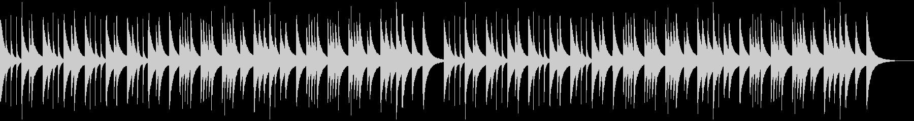 定番Xmasキャロルのオルゴールアレンジの未再生の波形
