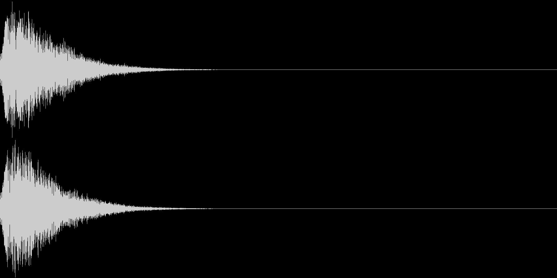 光る  輝く  キュピーン  キラーンIの未再生の波形