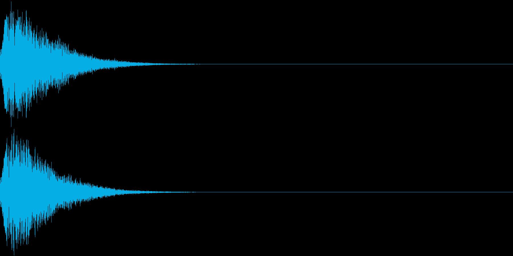 光る  輝く  キュピーン  キラーンIの再生済みの波形