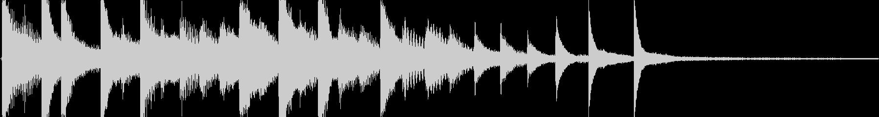 落ち着いたピアノソロでのゲームオーバー…の未再生の波形