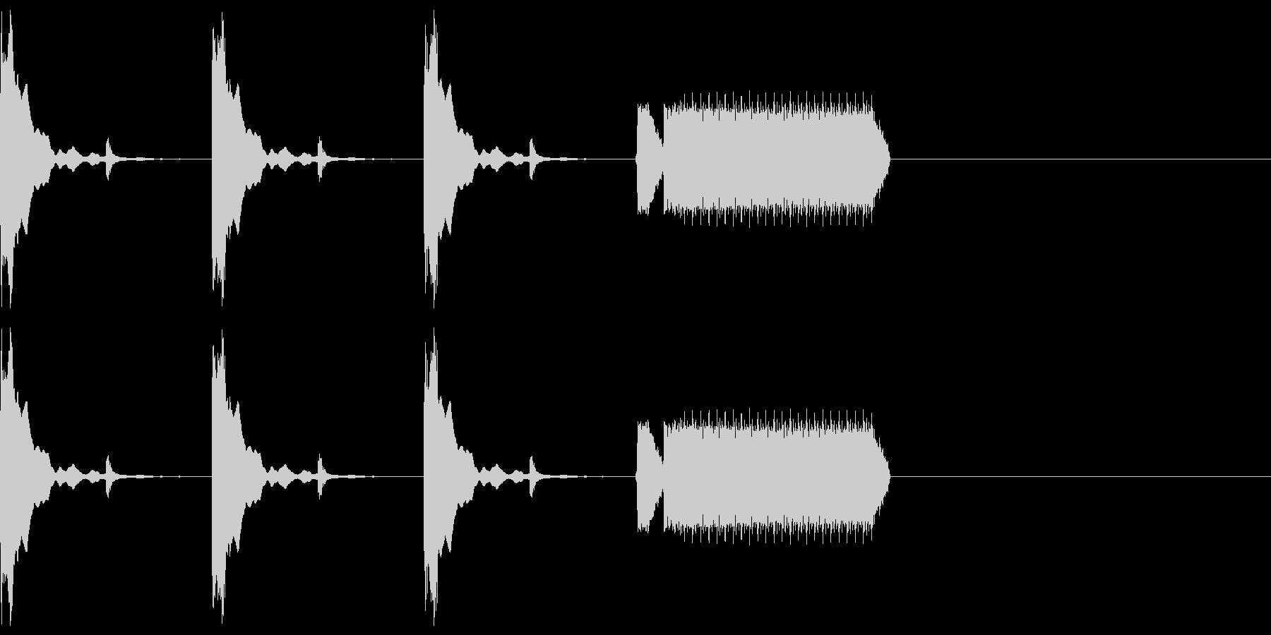 カウントダウン3秒チクタク+ホイッスルの未再生の波形