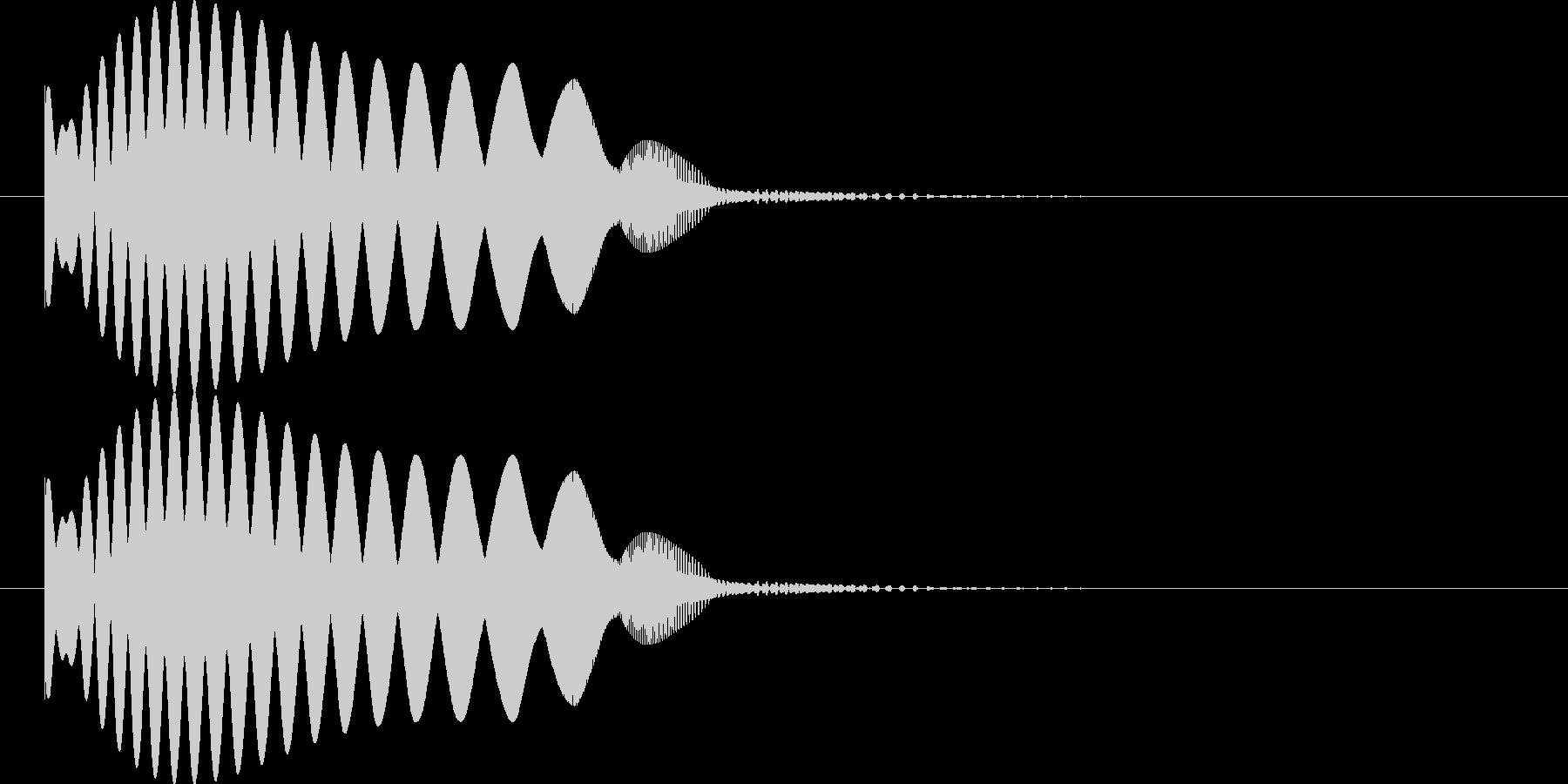 弧を描いて物が飛んでいくような音の未再生の波形