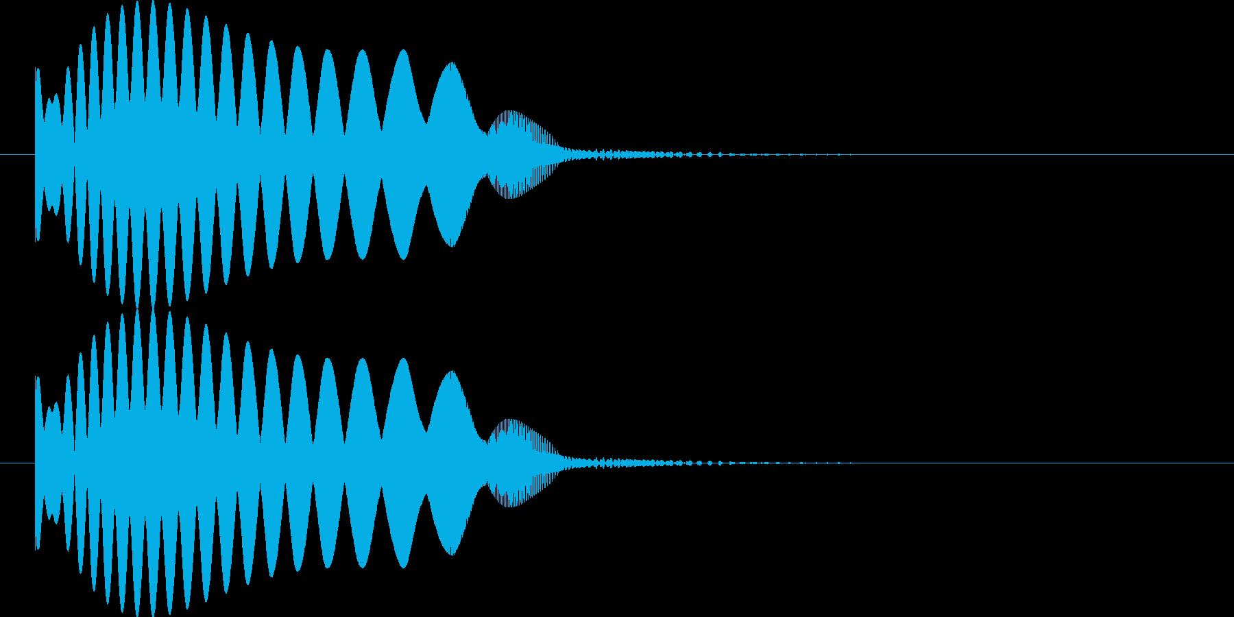 弧を描いて物が飛んでいくような音の再生済みの波形