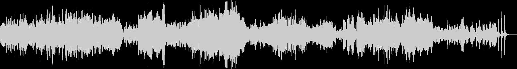 ドビュッシーの人気曲、パスピエです。の未再生の波形