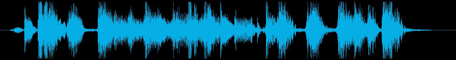 ファンキーでホーンメインのジングルの再生済みの波形