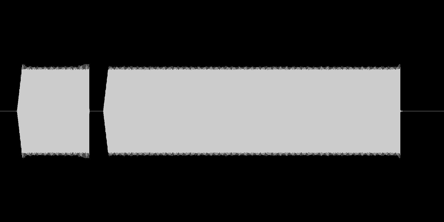 ピピーッ【電子音警告】の未再生の波形