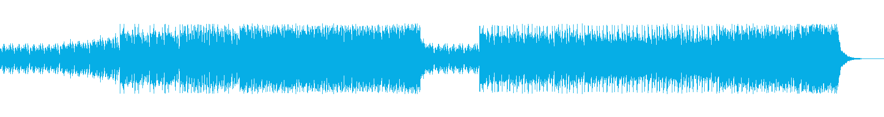 ドキュメンタリーの挿入歌の再生済みの波形