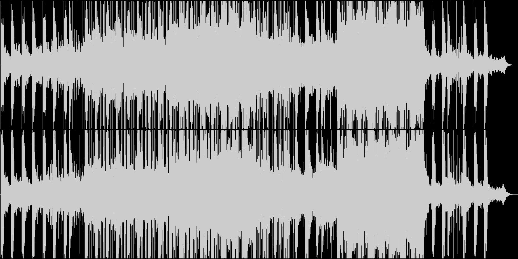 柔らかくスローに揺れるアンビエントの未再生の波形