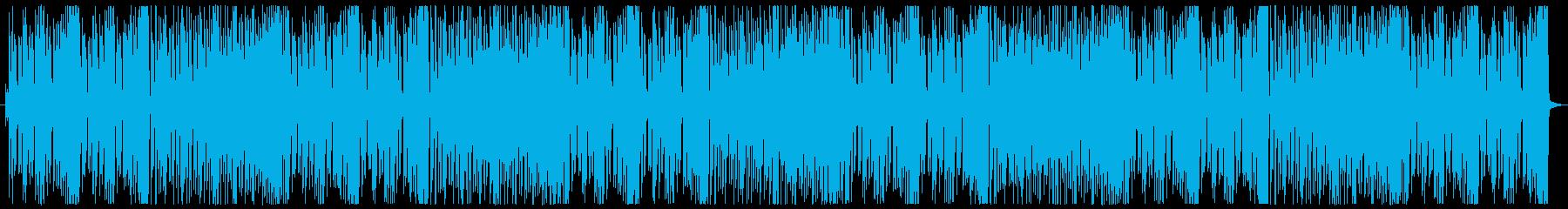 アップテンポでテンション高めのBGMの再生済みの波形