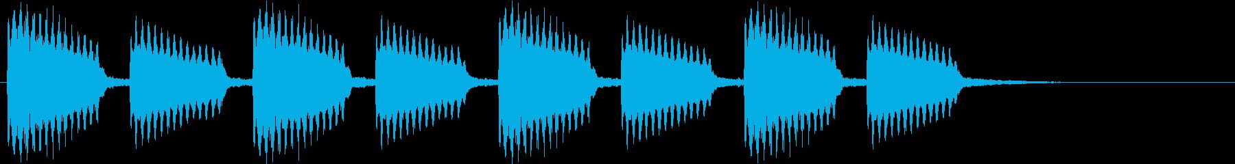 古い印象のギター音#01の再生済みの波形