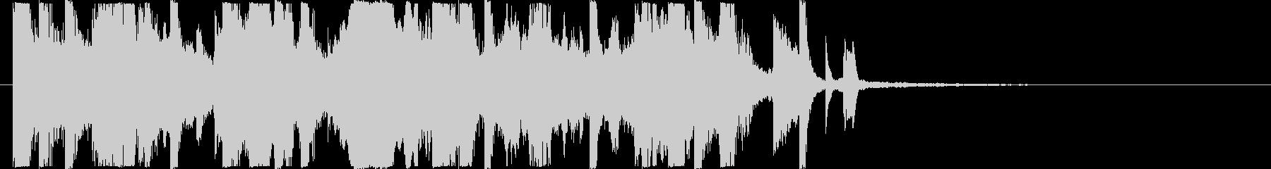 ジャジーでアナログ的HIPHOPジングルの未再生の波形