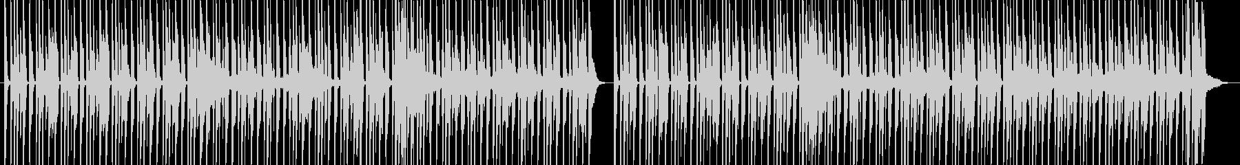 ドラムとベースのロック調イントロの未再生の波形