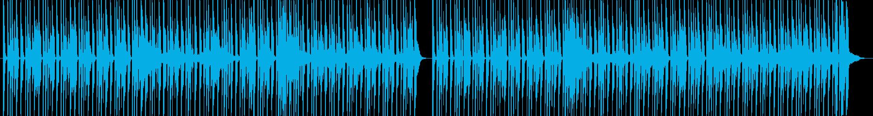 ドラムとベースのロック調イントロの再生済みの波形
