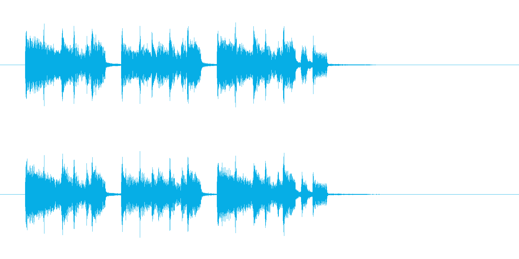 明るく元気なわくわくするリズミカルな曲の再生済みの波形
