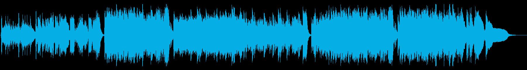 温かい雰囲気の日常アコースティックの再生済みの波形
