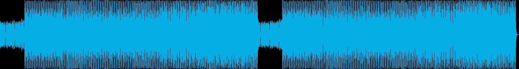 テクノとハウスを織り交ぜた楽曲の再生済みの波形