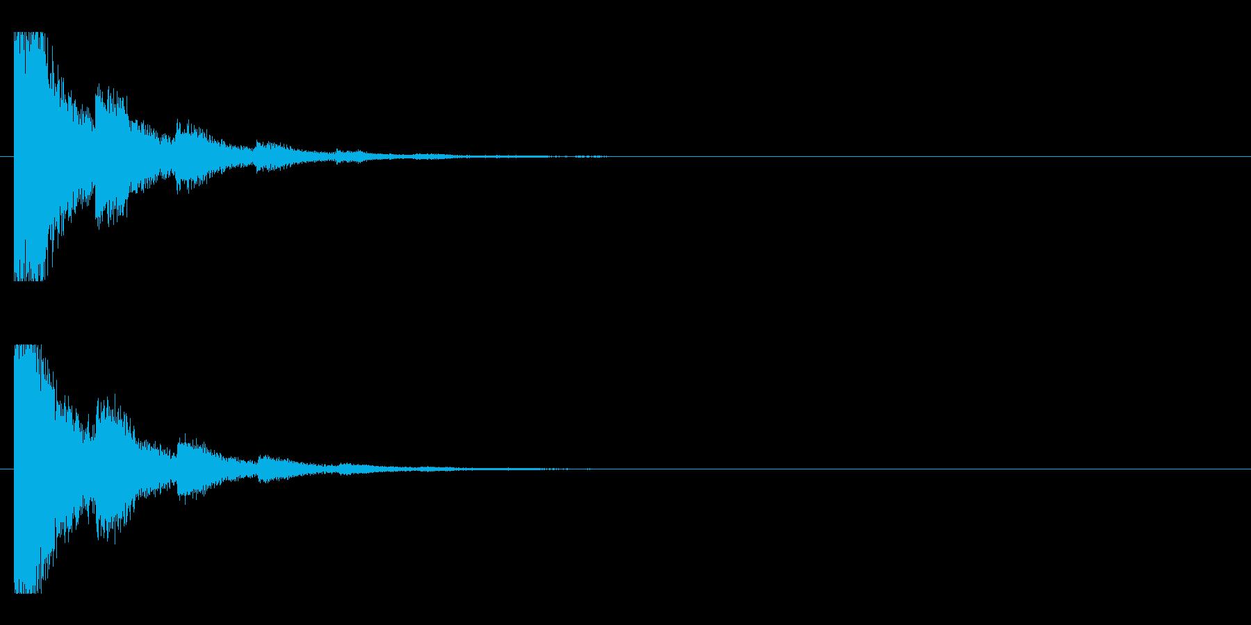 レーザー音-79-2の再生済みの波形