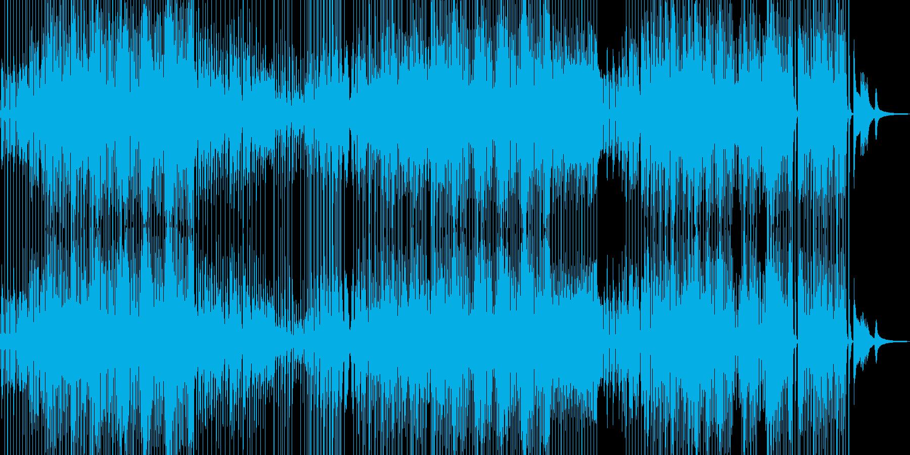 愉快でフレンドリー、コミカルなジャズの再生済みの波形