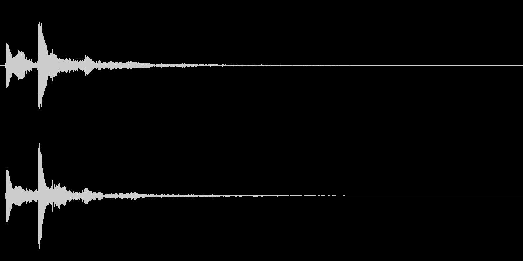 テロップ表示音~暗めな3和音の分散系~の未再生の波形