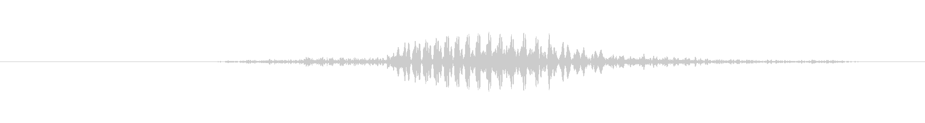 鳴き声 男性のため息02の未再生の波形
