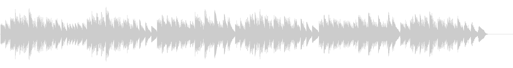 キラキラ星変奏曲(Var Ⅰ)オルゴールの未再生の波形