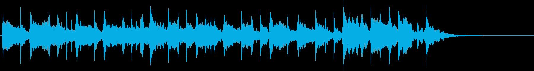 ロック調のカッコイイジングルの再生済みの波形
