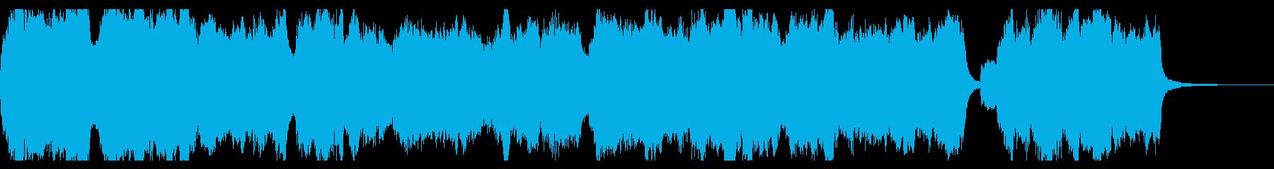 クリスマス定番曲、煌びやかオルガンの再生済みの波形